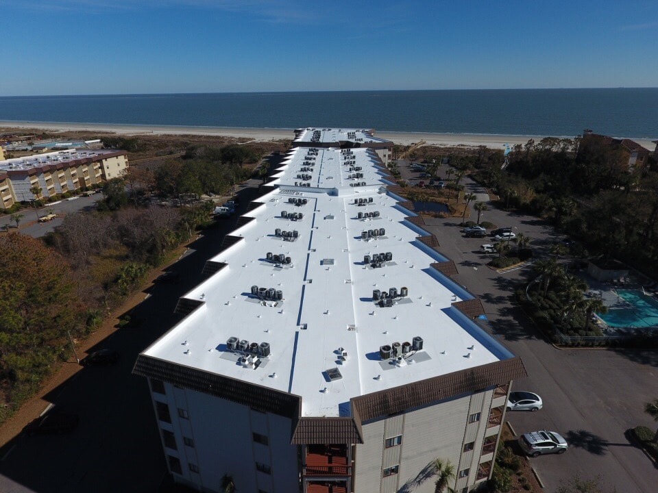 ARS Roofing - Commercial roof in Hilton Head Island