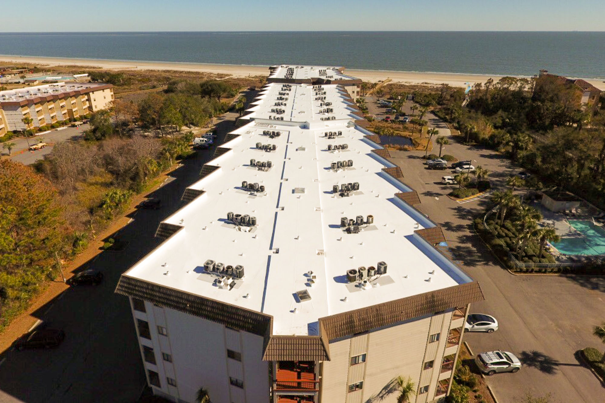ARS Roofing - Commercial Roof on apartment building in Hilton Head Island